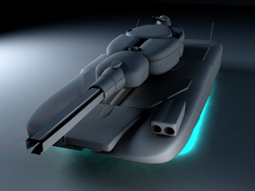 Futuristic Hover Tank