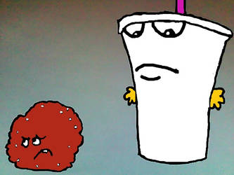 Master Shake and Meatwad ATHF. by dethklok-fan