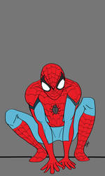 Spiderman on Illustrator