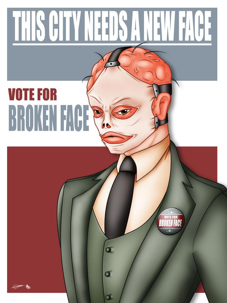 Vote for Broken Face by Evil-Rick