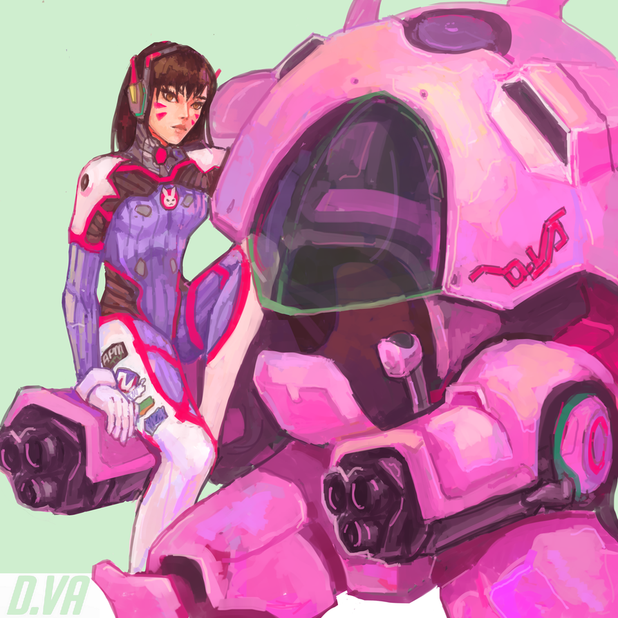 D.Va by Swallowchaser