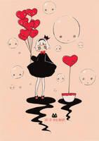 Inktober - Balloons by Paulinaapc