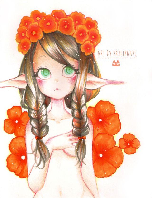 Orange elf by PaulinaAPC