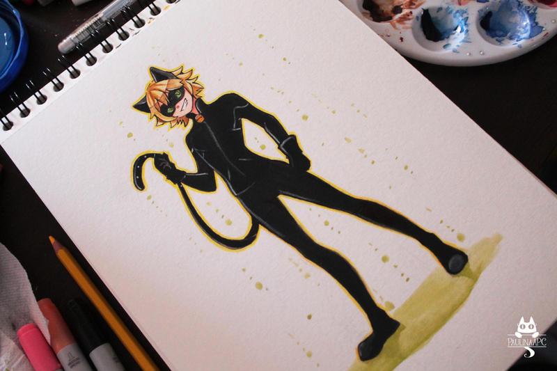 chat noir by paulinaapc on deviantart