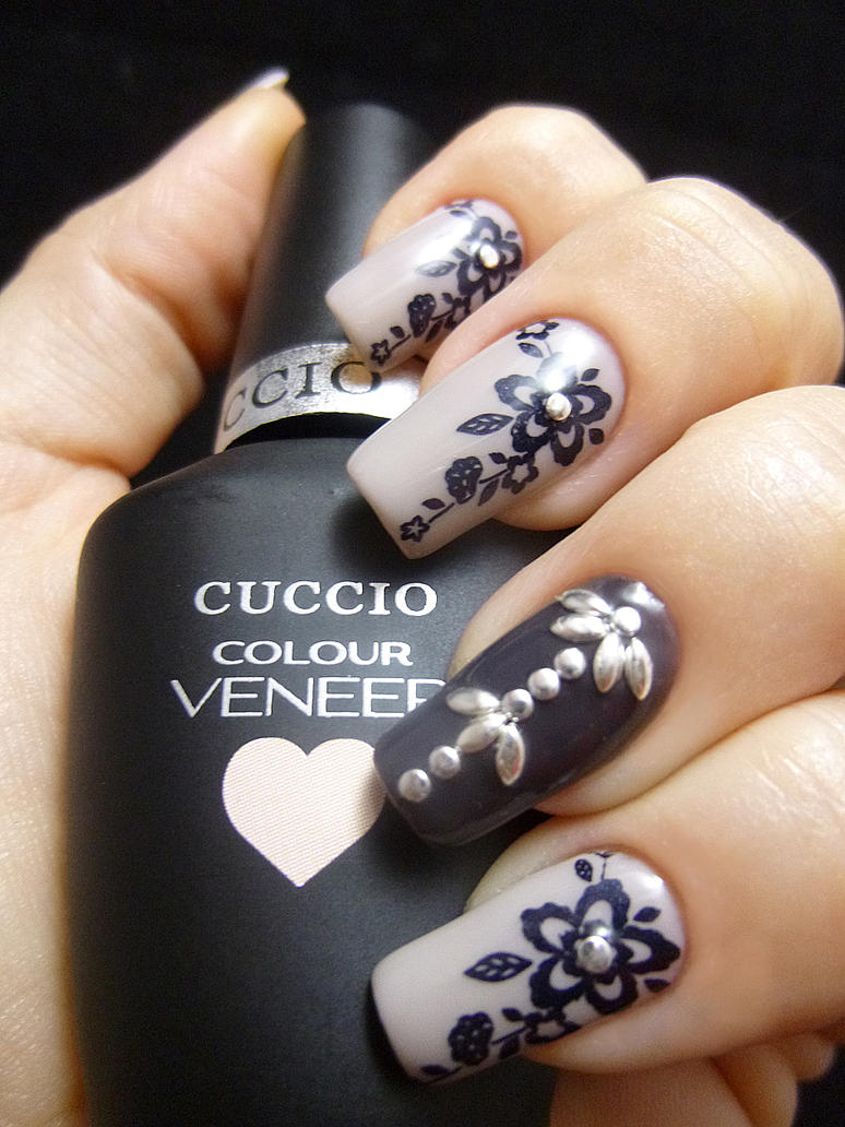 Taupe and Grey Nail Design by TenLittleCanvases on DeviantArt