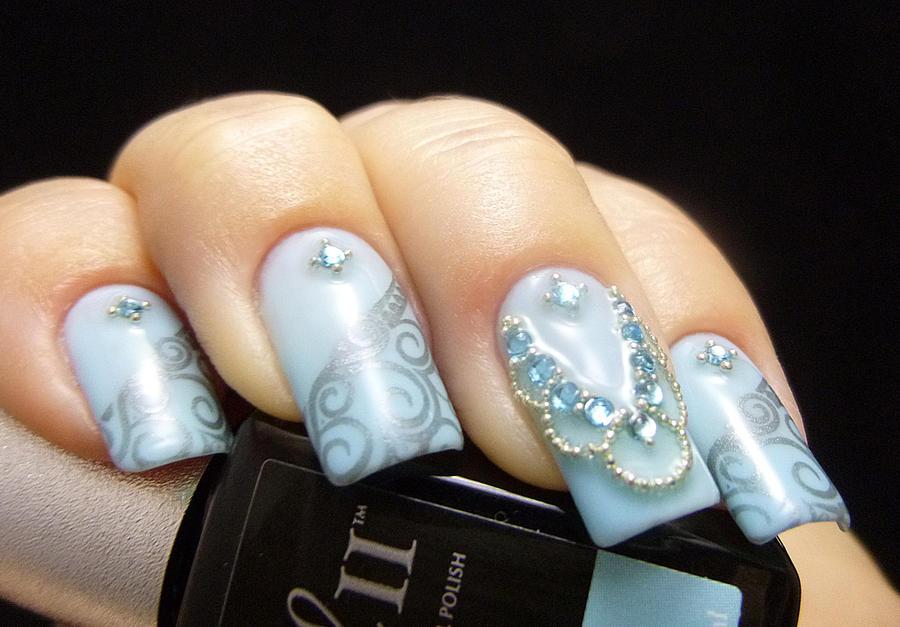Jeweled Nail Art Design by TenLittleCanvases on DeviantArt