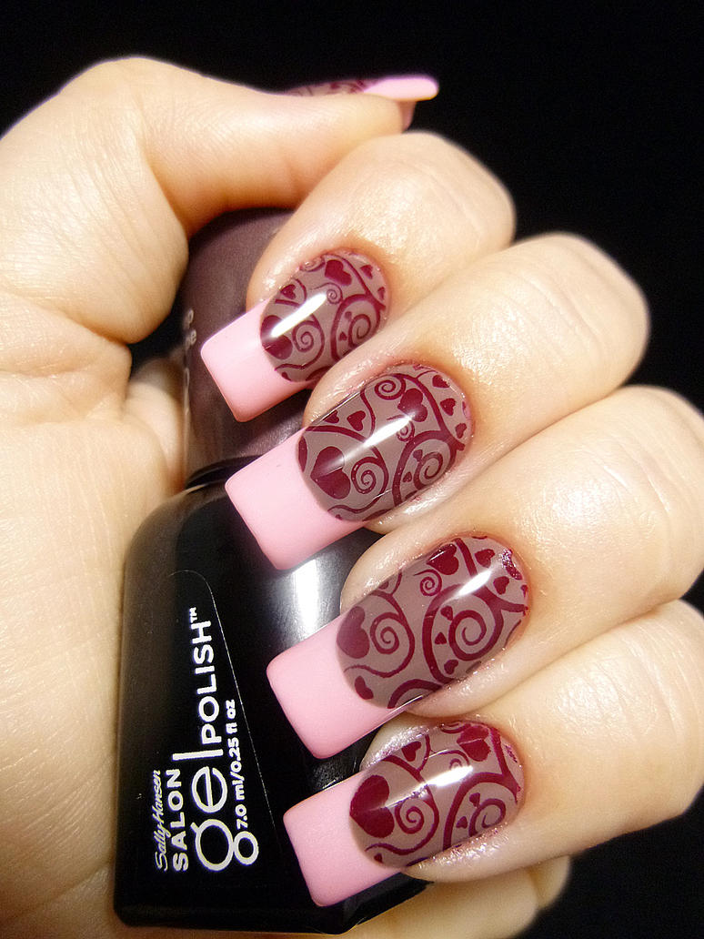 Funky French Manicure By Tenlittlecanvases On Deviantart