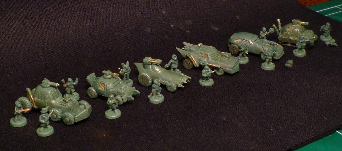 6mm Wasteland vehicles and infantry 3 by MechanicalHorizon