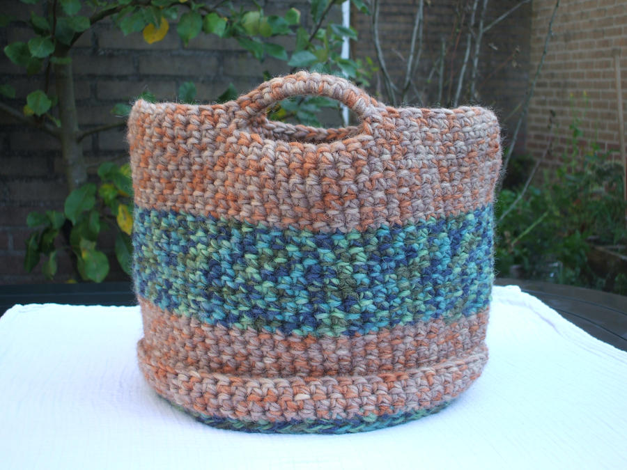 Crochet basket by Magical525