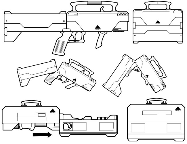 triax suitcase guns by brianmanning on deviantart