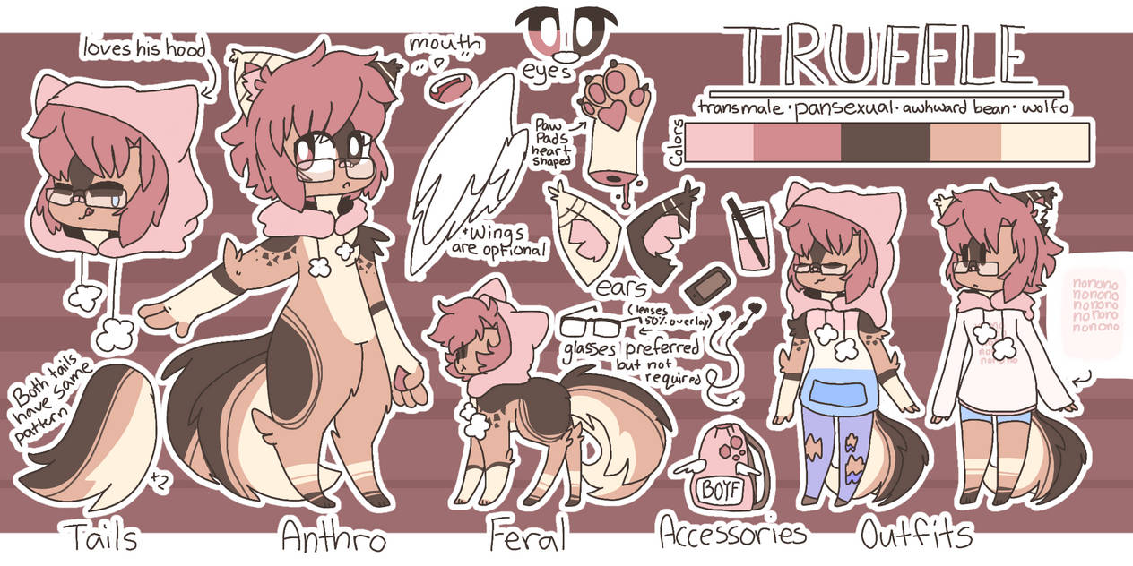 Truffle | Fursona Ref
