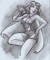 Phantom lady Sketch Commission by mainasha