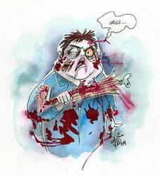 Fat Zombie by mainasha
