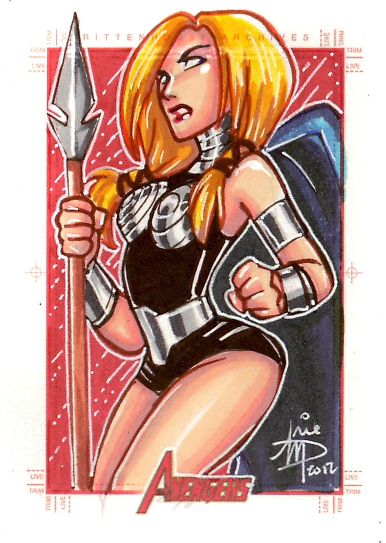 Avengers Sketch Card Set 3 by mainasha