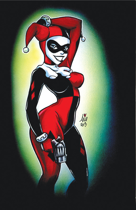 Airbrush Joker Wallpaper: Harley Quinn Marker Airbrush By Mainasha On DeviantArt