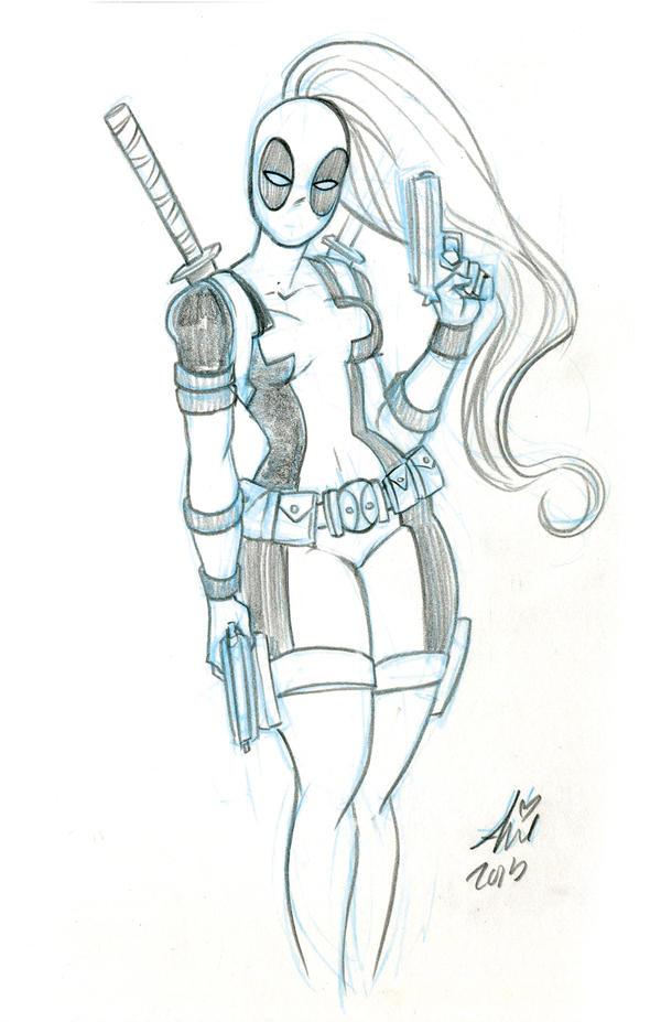 Deadpool Sketch Easy How To Draw Deadpool Easy | Dark Brown Hairs