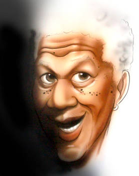 new caricatures morgan freeman