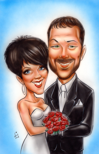 Wedding Themed caricature by mainasha