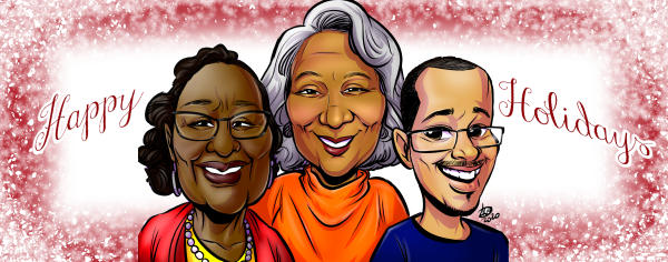 Brewer Family Caricature