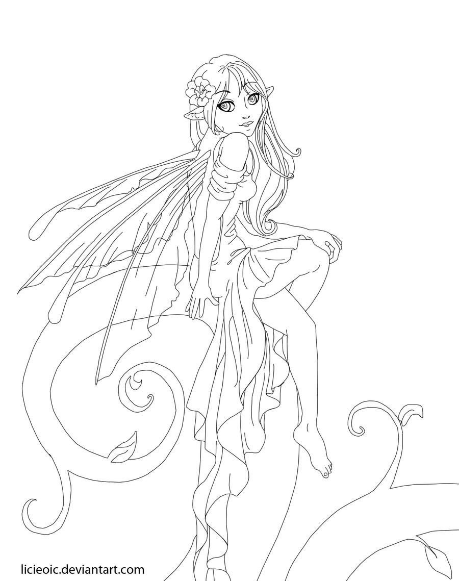 earth fairy coloring pages - photo#32