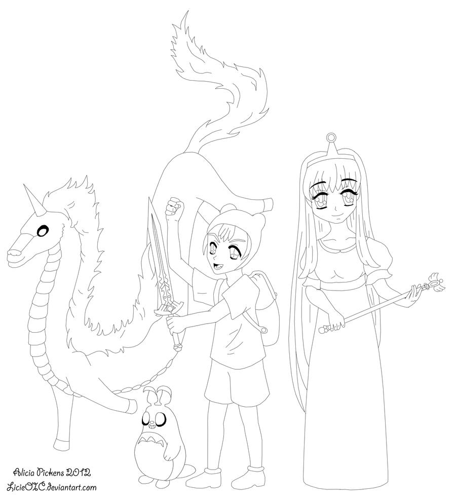 adventure time anime version lines by licieoic on deviantart