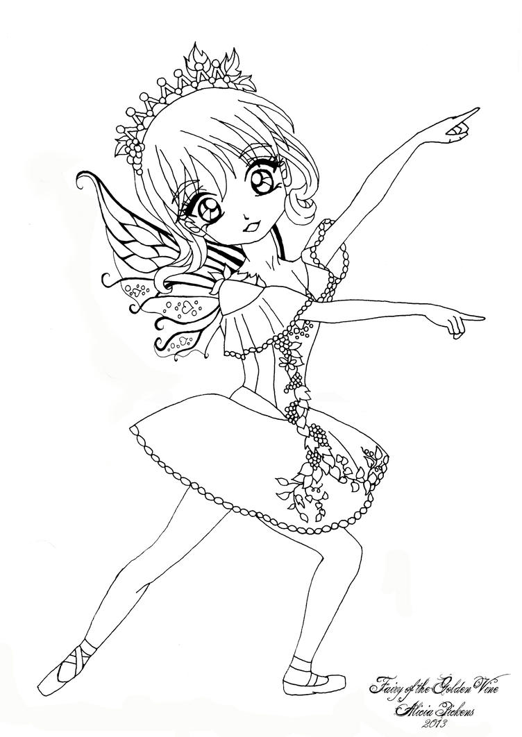 anime fairies colouring pages page 2
