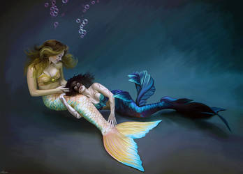 The Mermaid and The Siren by LicieOIC