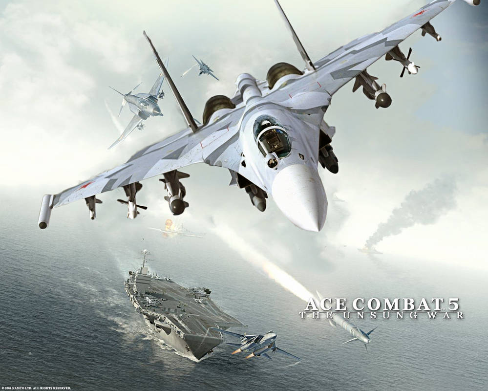 Ace Combat 5 The Unsung War Custom Wallpaper SU-35 by BillyM12345 ...
