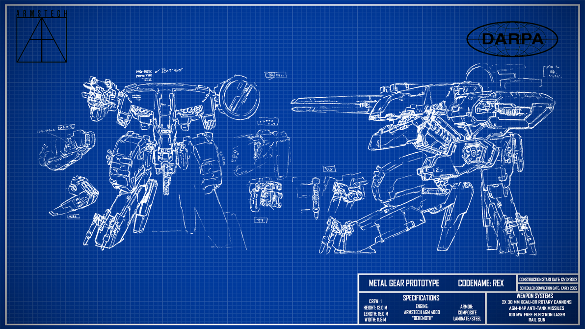 Metal gear rex blueprint wallpaper v2 by billym12345 on deviantart metal gear rex blueprint wallpaper v2 by billym12345 malvernweather Image collections
