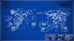 Metal Gear REX Blueprint Wallpaper v.2 by BillyM12345