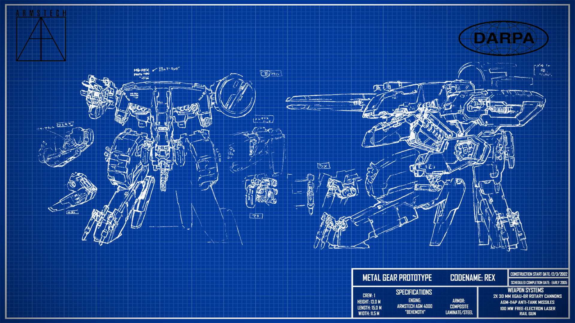 Metal gear rex blueprint wallpaper v2 by billym12345 on deviantart metal gear rex blueprint wallpaper v2 by billym12345 malvernweather Images