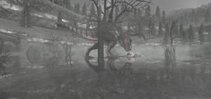 Lone T-rex