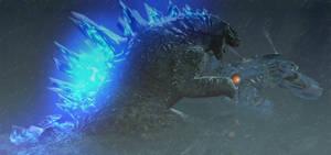 Godzilla vs Gipsy Danger by Yurosiraptor-Rex