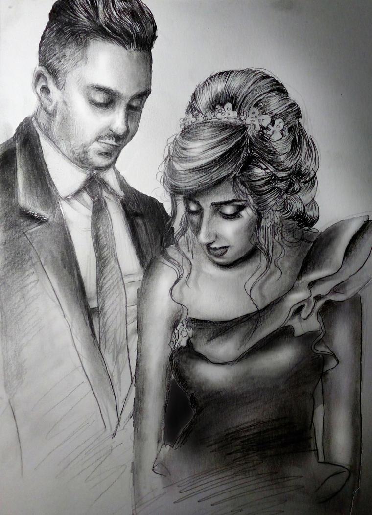 Wedding portrait by Krisallys
