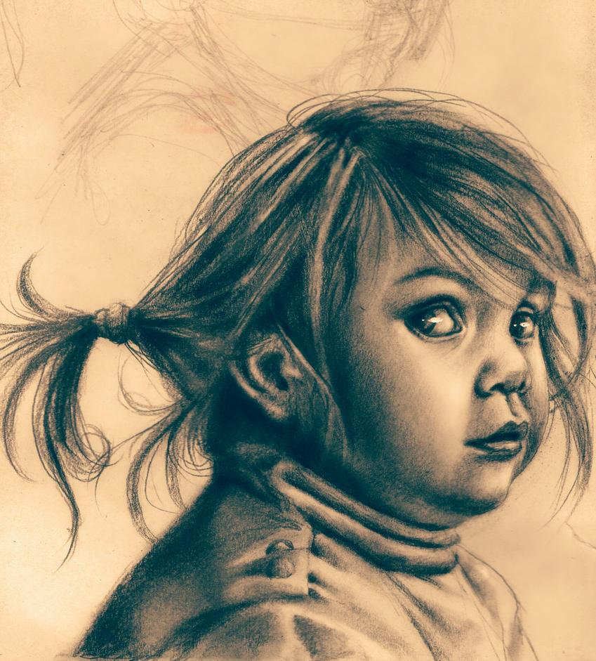 Portrait on sketchbook by Krisallys