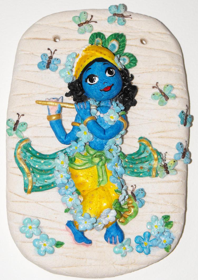 Salt dough Krishna by candrika108