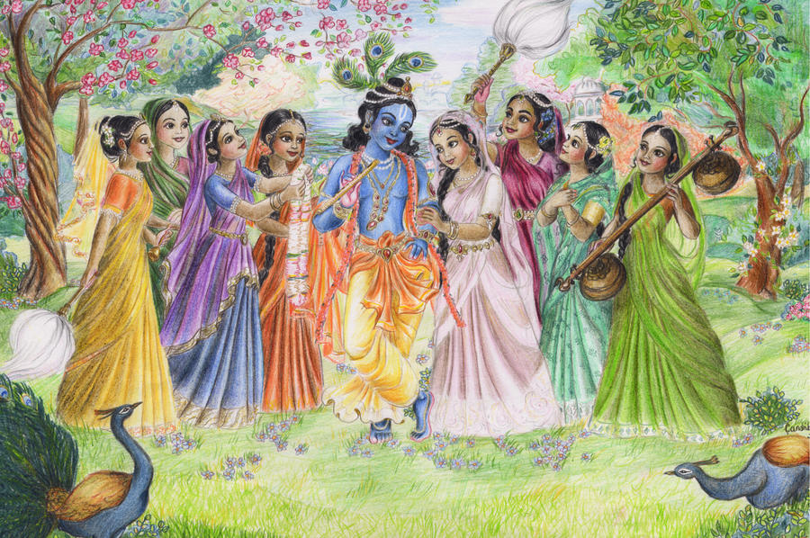 Krishna with Gopis by candrika108 on DeviantArt