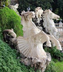 Horse-Mermaid Statue