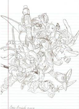 Chrono Trigger Group Sketch