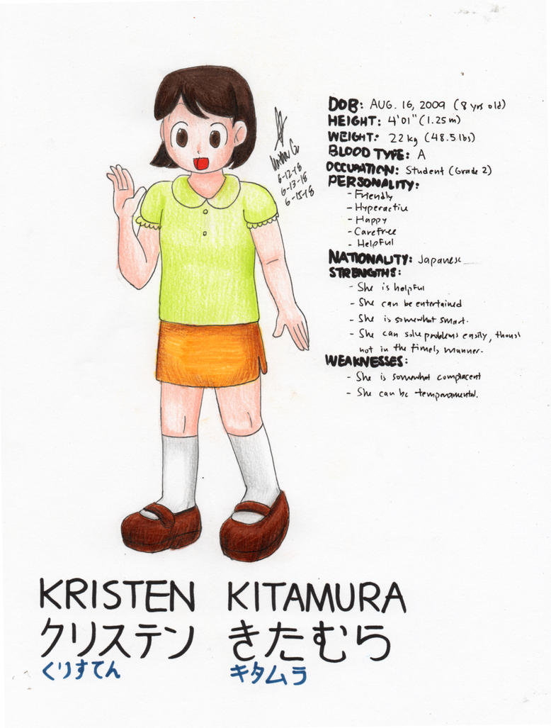 Kristen Kitamura (OC) by MatthewGo707