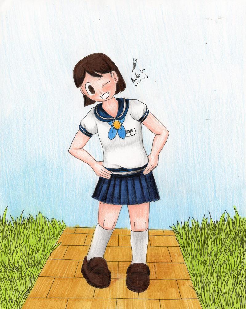 Kristen the Grade 2 Schoolgirl by MatthewGo707