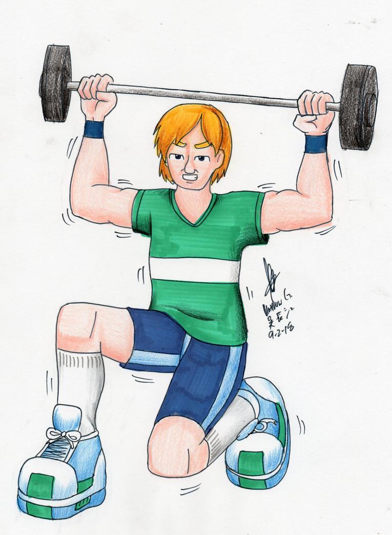 PewDiePie weightlifting by MatthewGo707