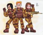 Mii Fighters in desert camo uniform