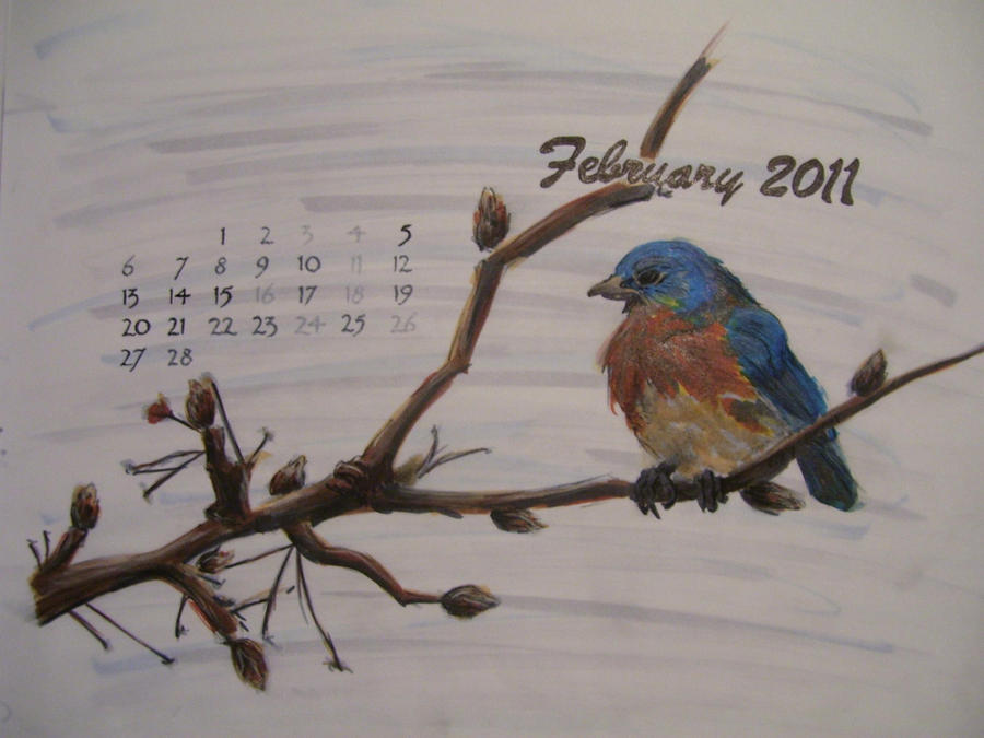 February 2011 Calendar by ~Lupus-Lily on deviantART