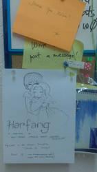 Fan Art: Harfang Above my Work Desk by DinDeen