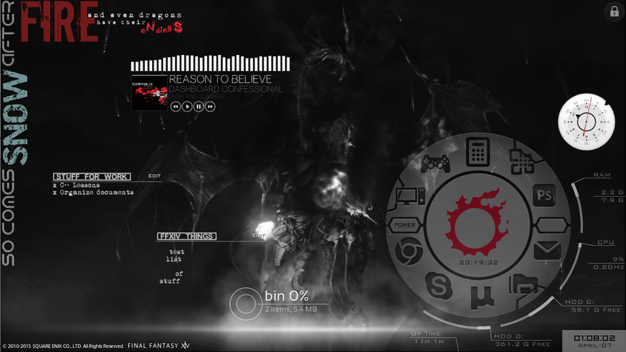 Rainmeter midgardsormr by dindeen on deviantart for Deviantart rainmeter