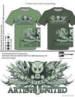 Da  Design 2 color shirts by reyjdesigns