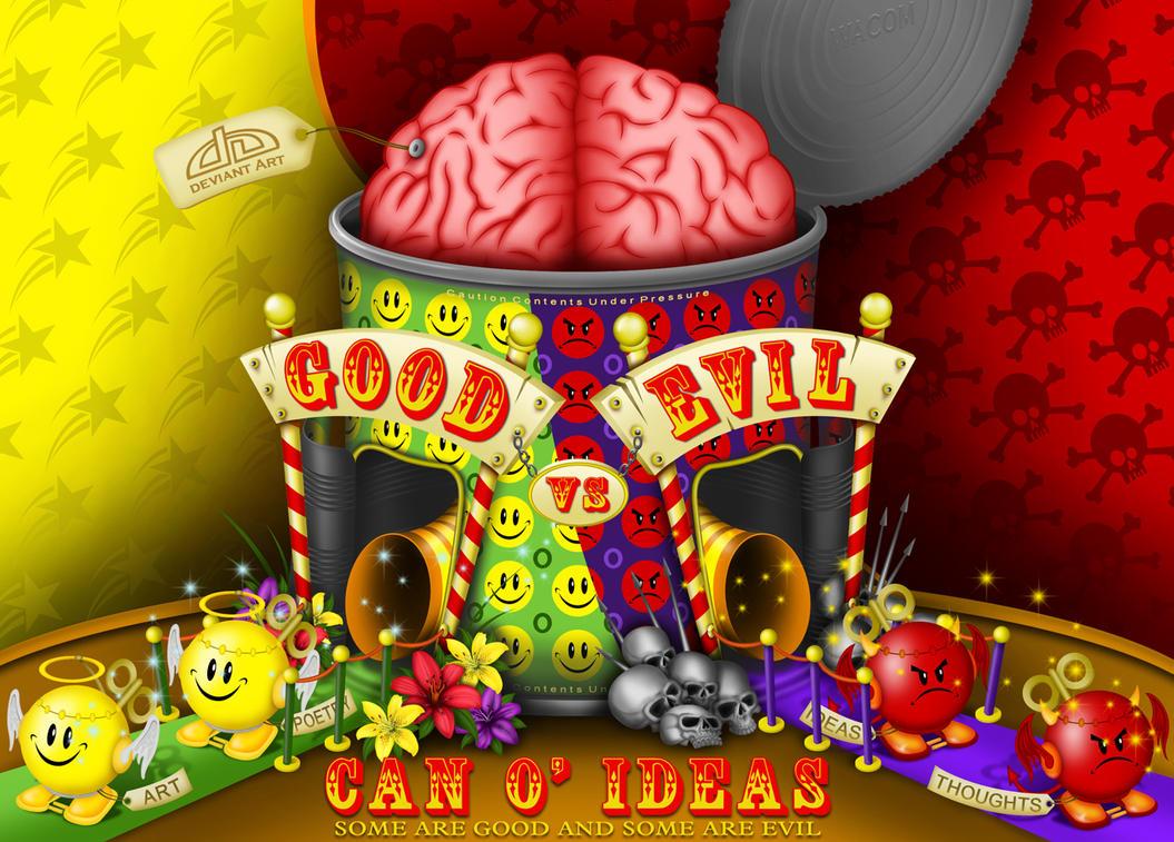 Can O Ideas - GoodvsEvil by reyjdesigns