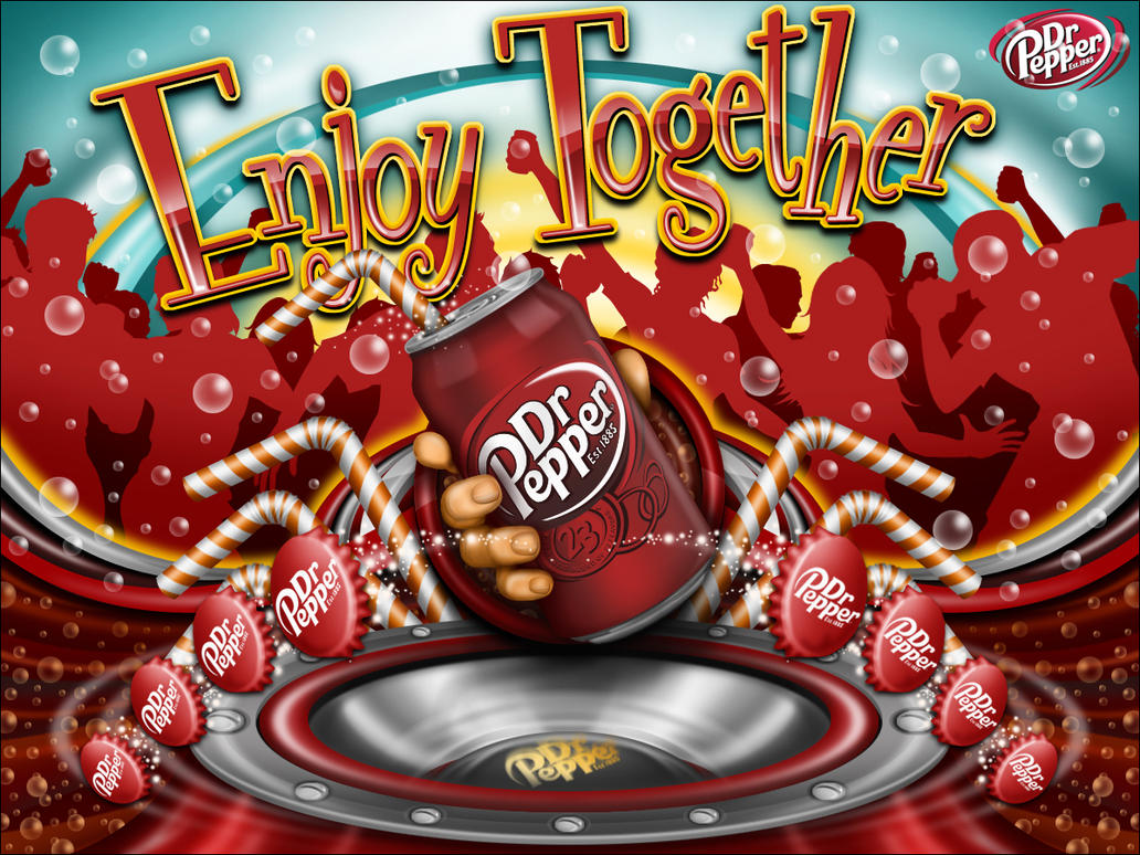 Enjoy Dr Pepper Together Art by reyjdesigns