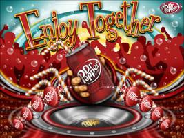 Enjoy Dr Pepper Together Art by reyjdesigns